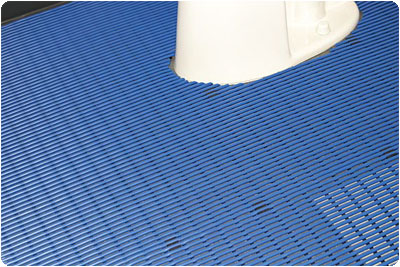 Photo Shows Posey Sure Step Cushioned Mat Custom Cut Around The Base Of  Toilet
